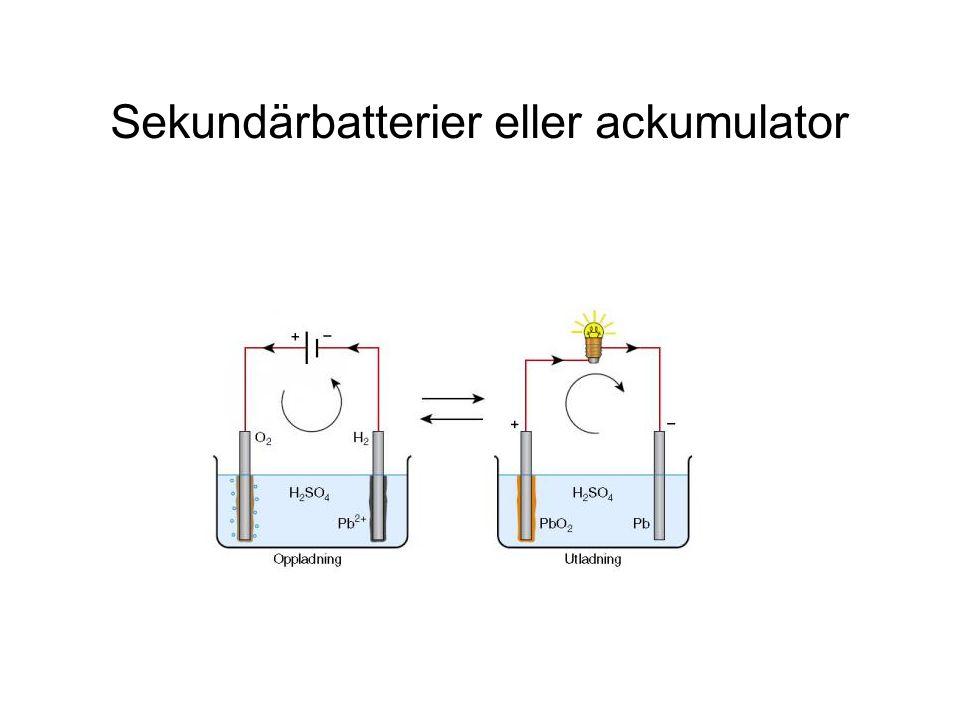 Sekundärbatterier eller ackumulator