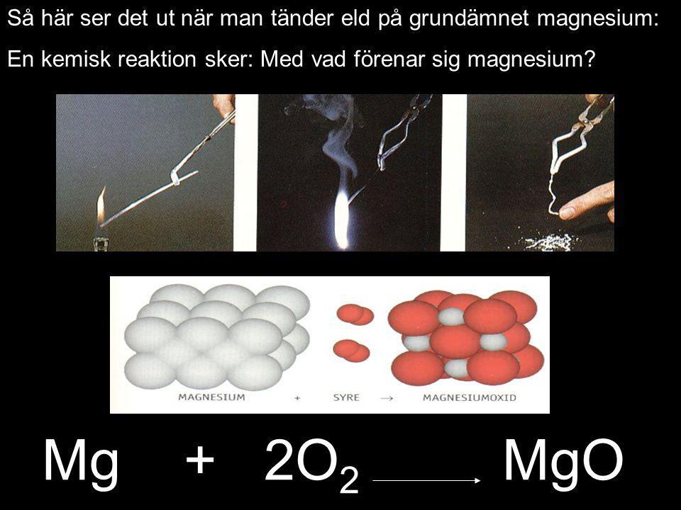 Så här ser det ut när man tänder eld på grundämnet magnesium: