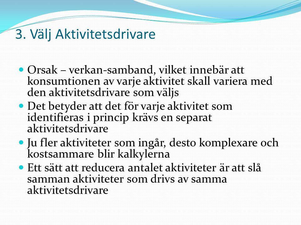3. Välj Aktivitetsdrivare