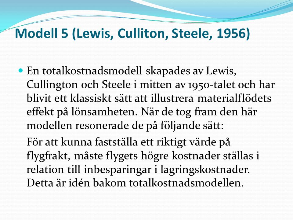 Modell 5 (Lewis, Culliton, Steele, 1956)