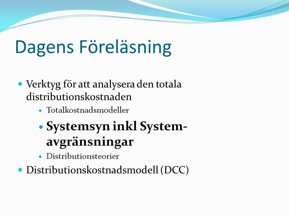 Dagens Föreläsning Systemsyn inkl System-avgränsningar