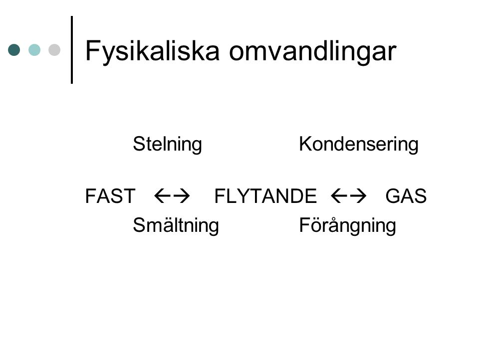 Fysikaliska omvandlingar