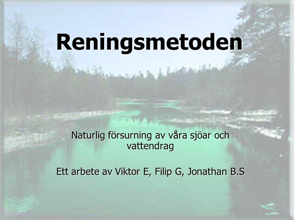 Reningsmetoden Naturlig försurning av våra sjöar och vattendrag