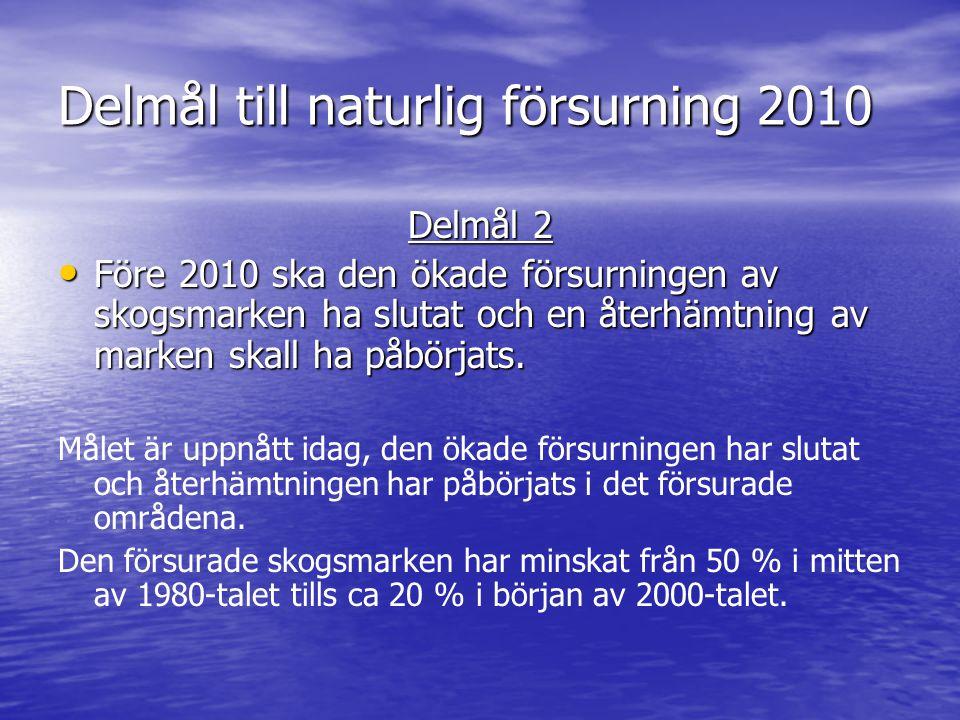 Delmål till naturlig försurning 2010