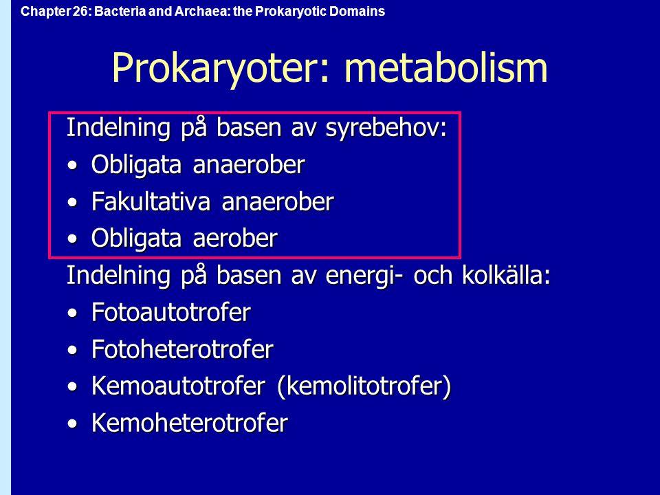 Prokaryoter: metabolism
