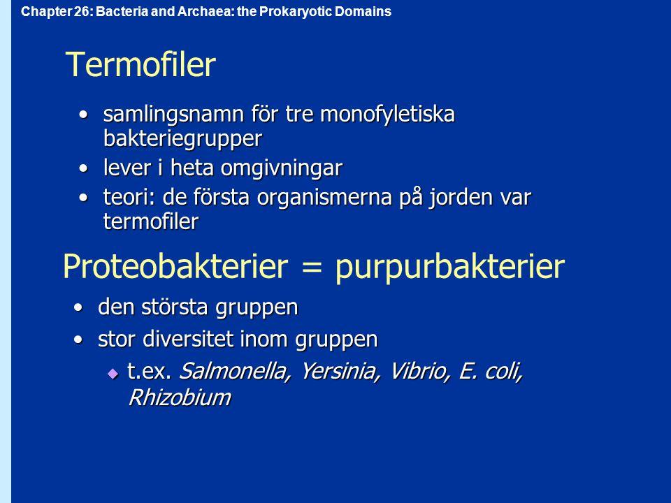 Proteobakterier = purpurbakterier