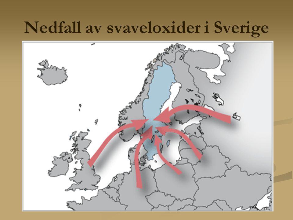 Nedfall av svaveloxider i Sverige