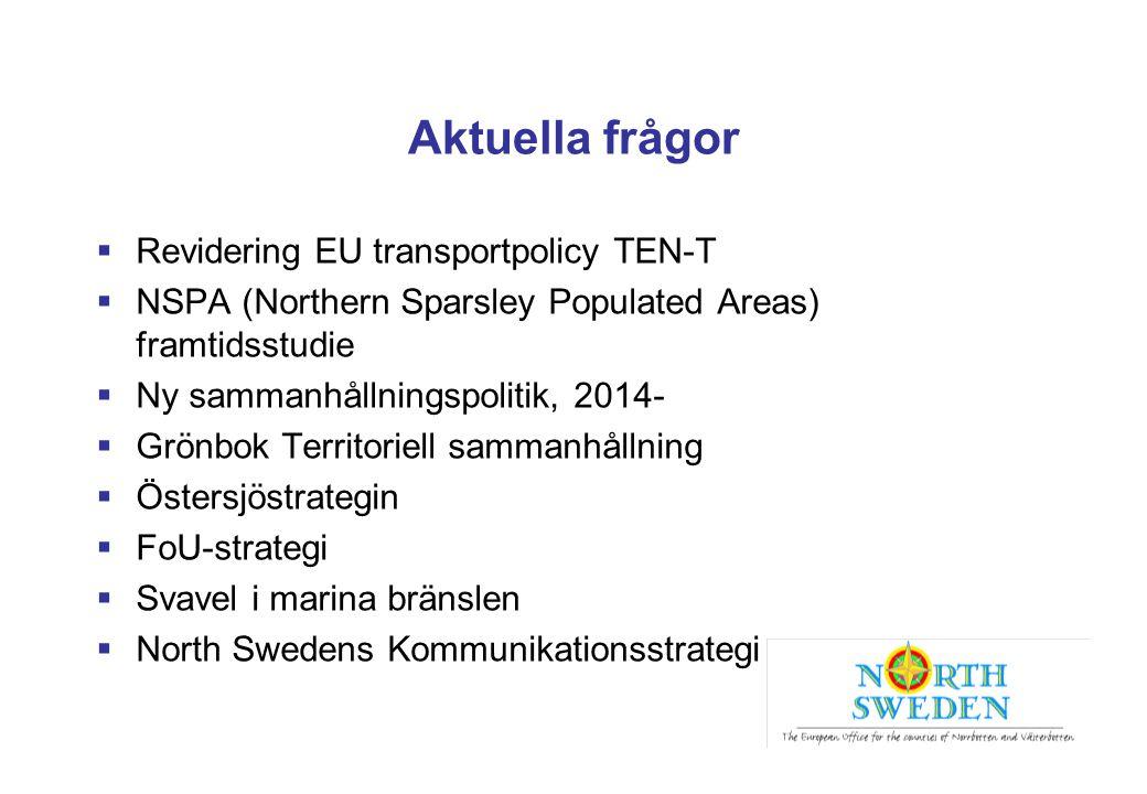 Aktuella frågor Revidering EU transportpolicy TEN-T