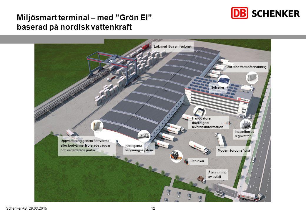 Miljösmart terminal – med Grön El baserad på nordisk vattenkraft