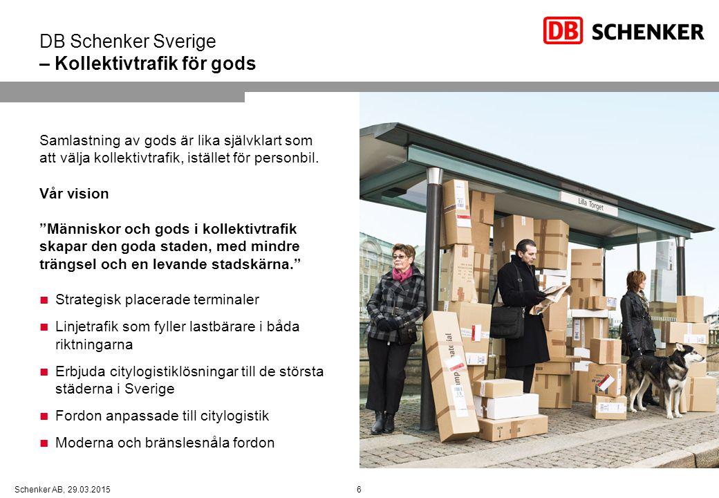 DB Schenker Sverige – Kollektivtrafik för gods