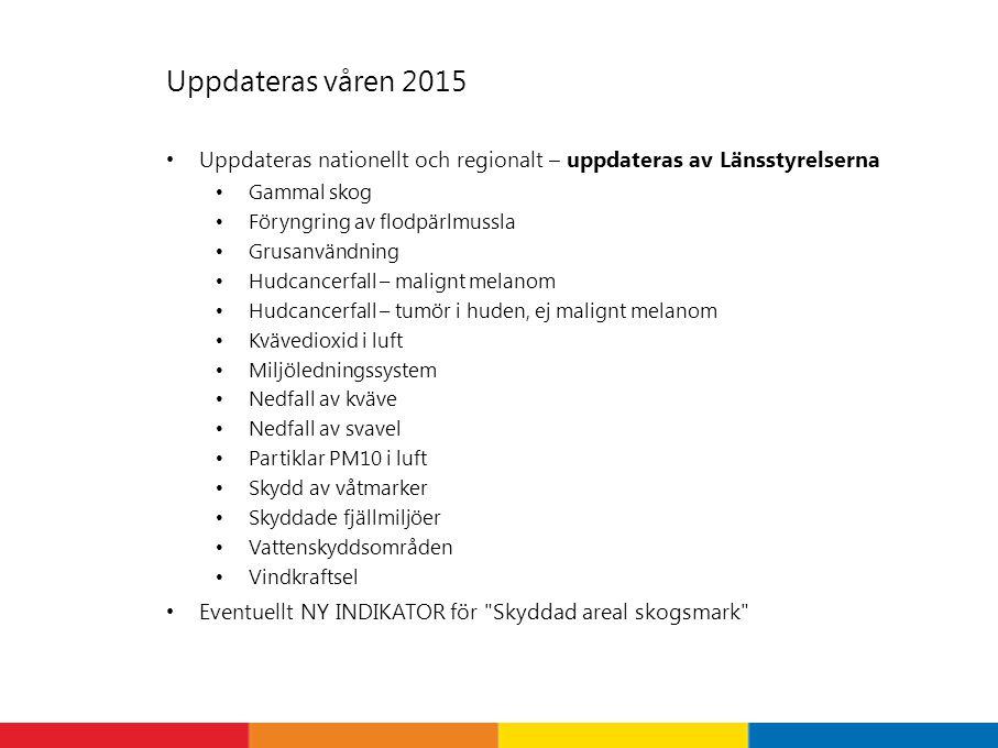 Uppdateras våren 2015 Uppdateras nationellt och regionalt – uppdateras av Länsstyrelserna. Gammal skog.