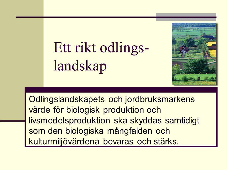 Ett rikt odlings- landskap