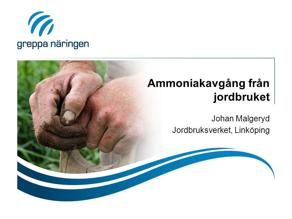 Ammoniakavgång från jordbruket