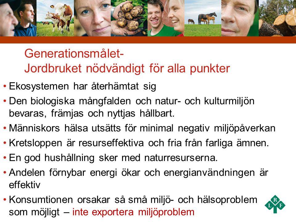 Generationsmålet- Jordbruket nödvändigt för alla punkter
