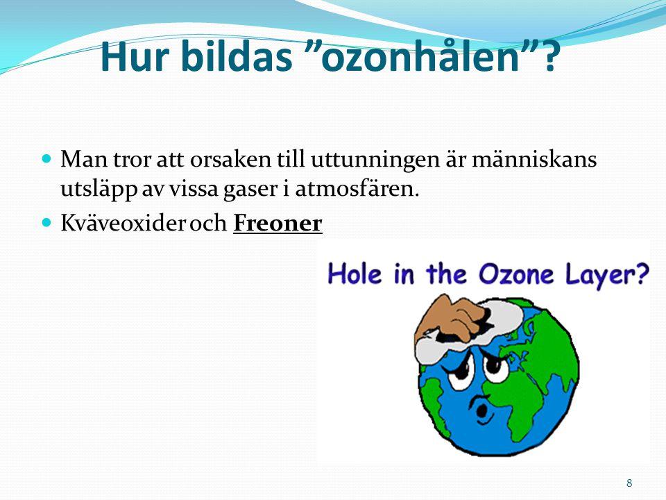 Hur bildas ozonhålen