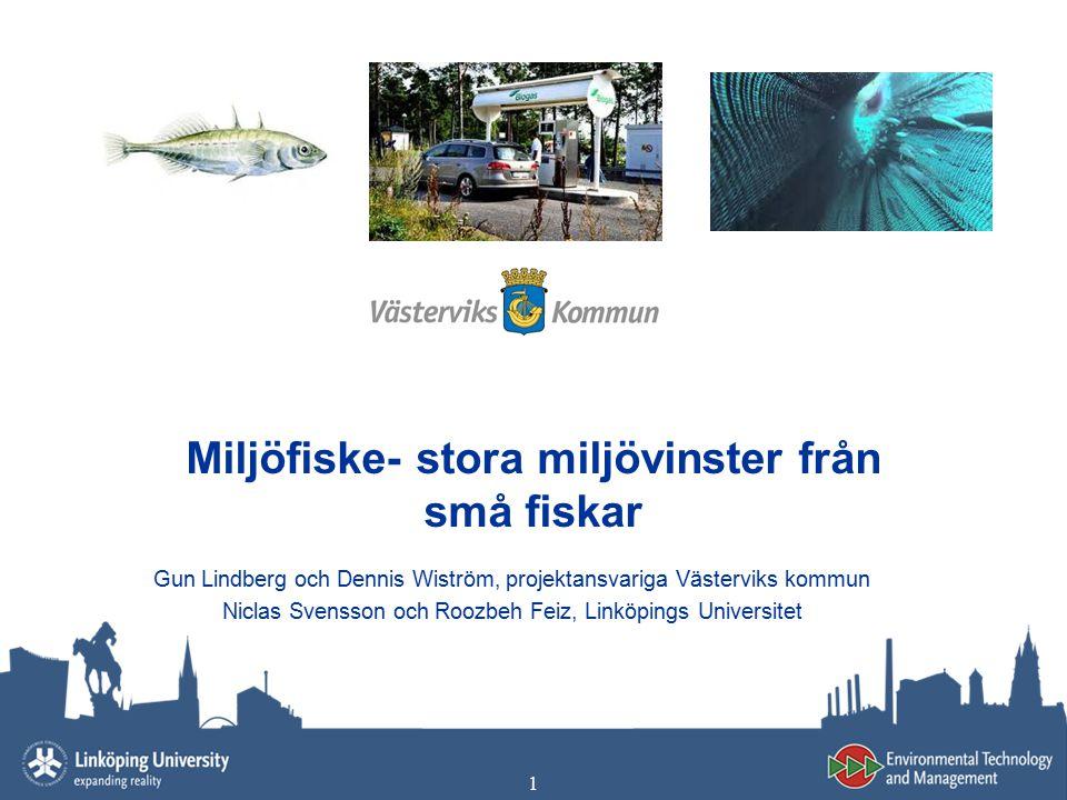 Miljöfiske- stora miljövinster från små fiskar