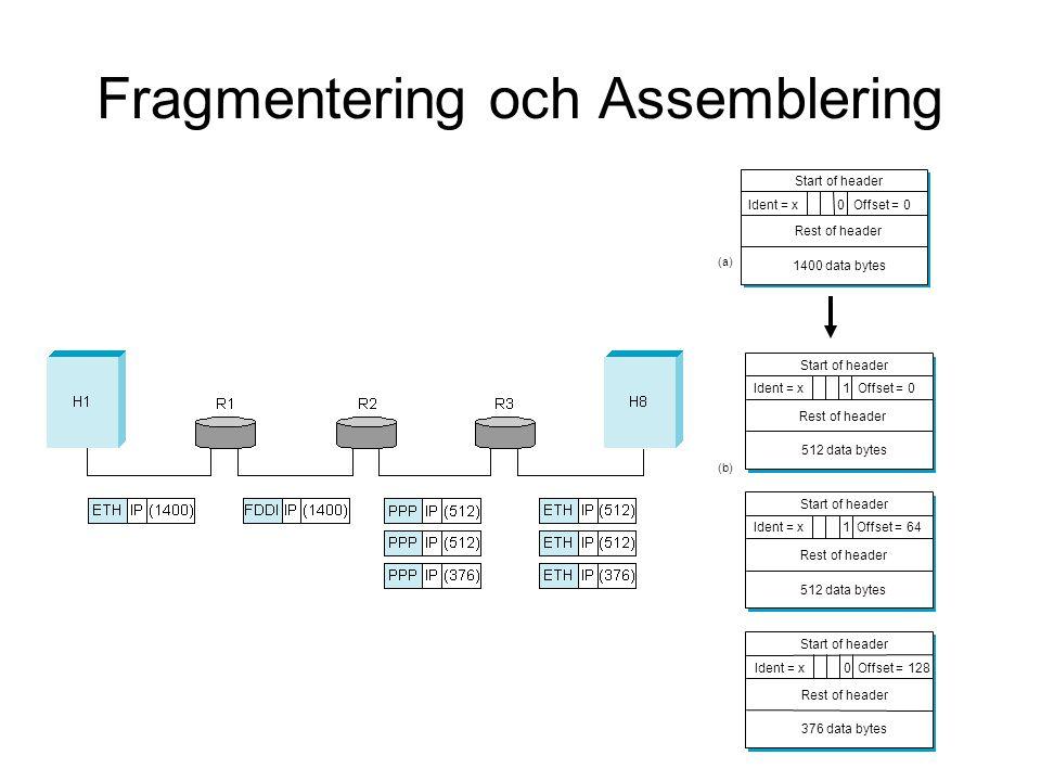 Fragmentering och Assemblering