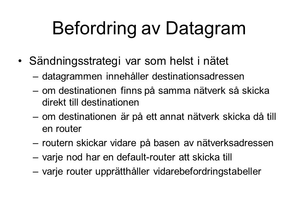Befordring av Datagram