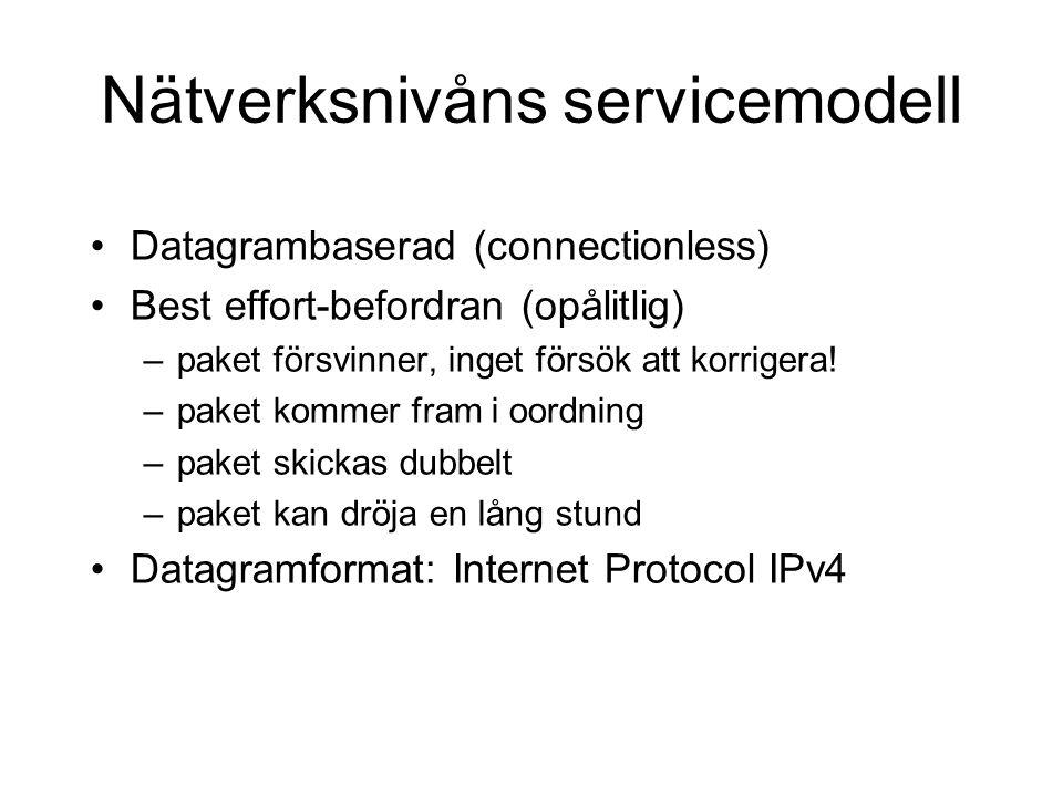 Nätverksnivåns servicemodell