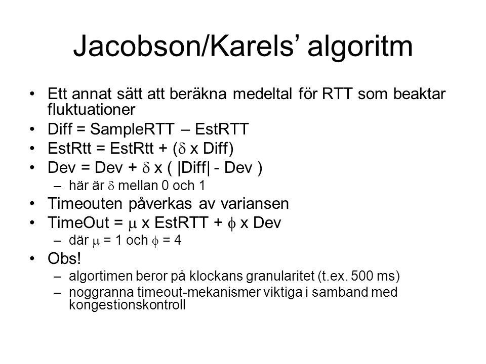 Jacobson/Karels' algoritm
