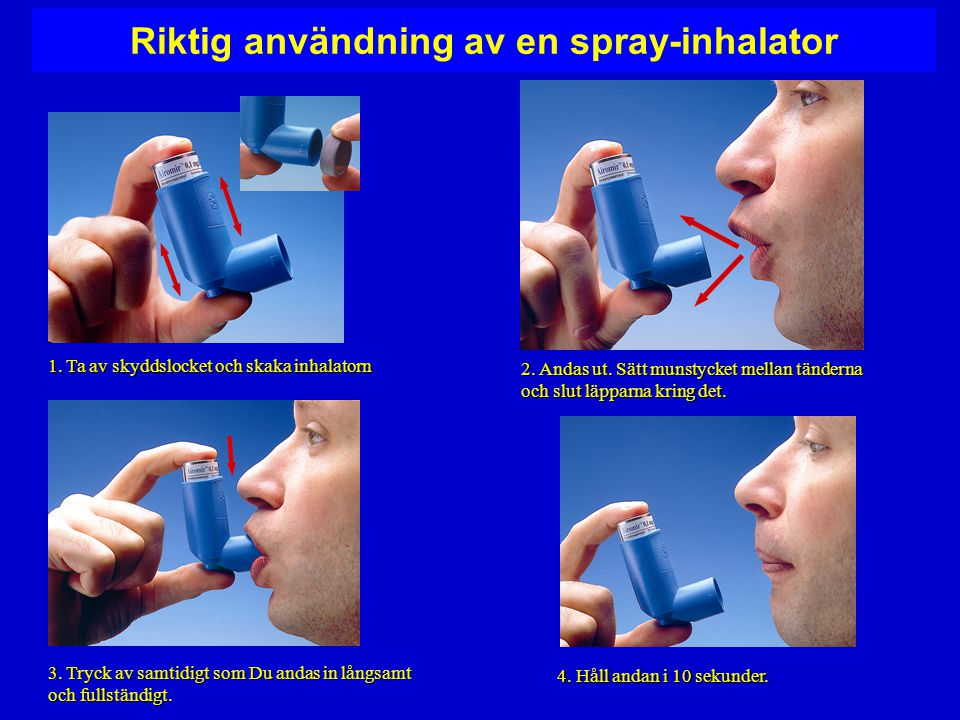 Riktig användning av en spray-inhalator