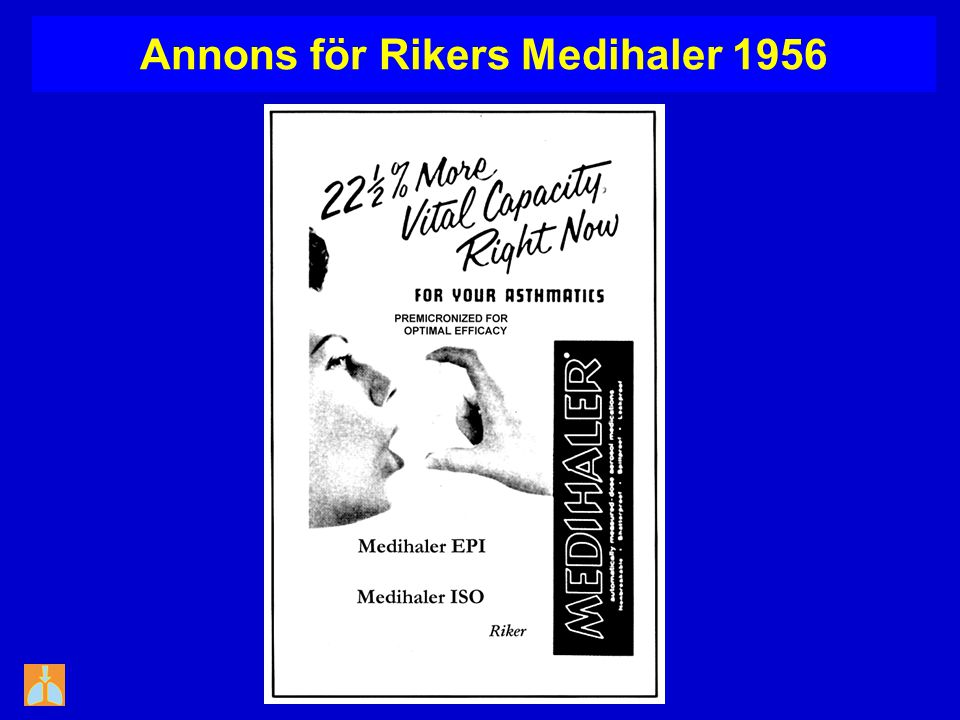 Annons för Rikers Medihaler 1956