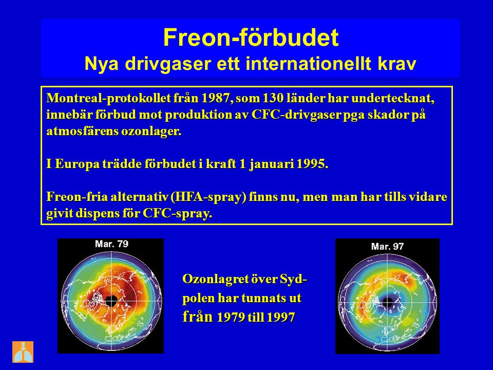Freon-förbudet Nya drivgaser ett internationellt krav