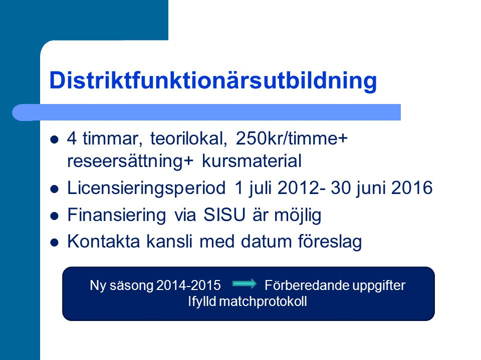 Distriktfunktionärsutbildning