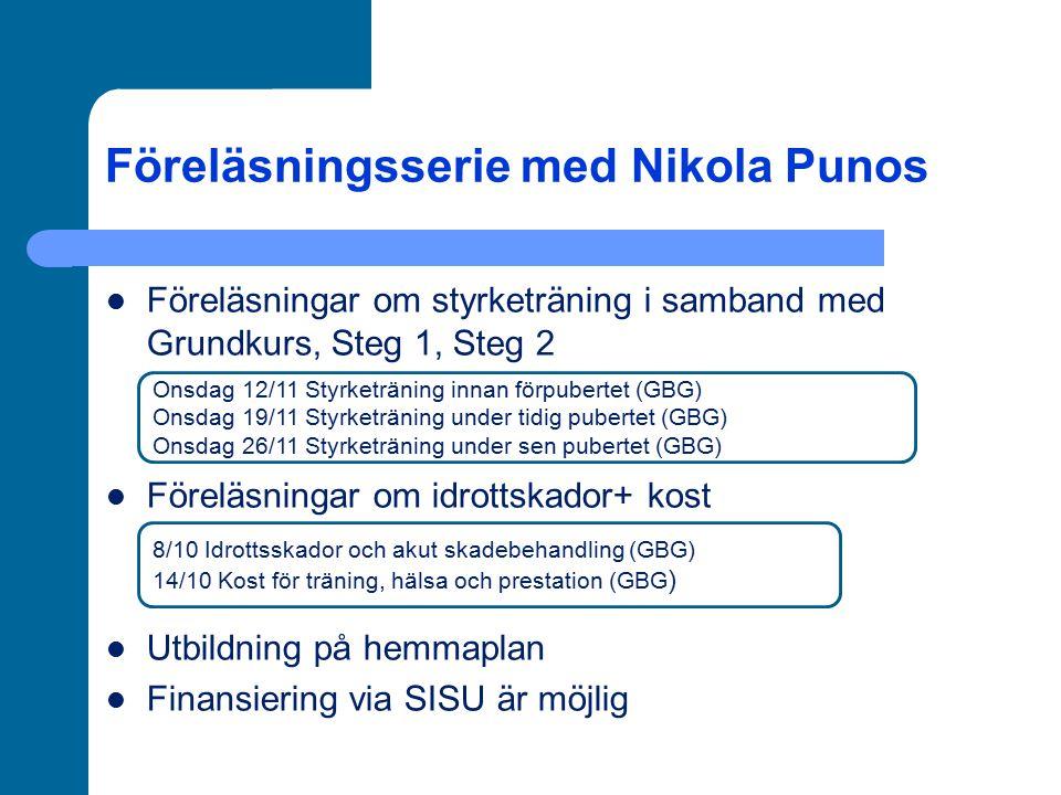 Föreläsningsserie med Nikola Punos