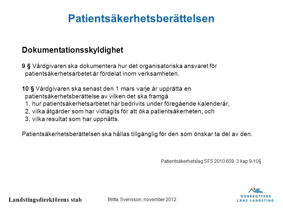 Patientsäkerhetsberättelsen