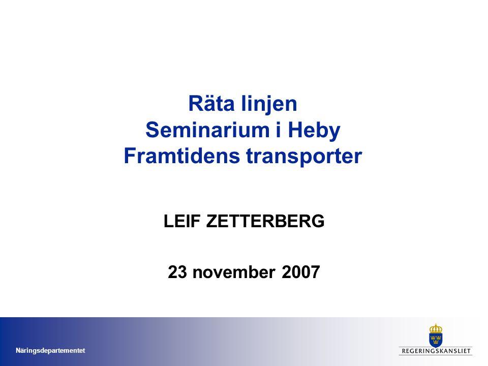 Räta linjen Seminarium i Heby Framtidens transporter