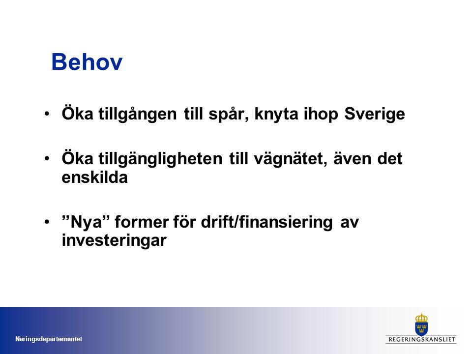 Behov Öka tillgången till spår, knyta ihop Sverige