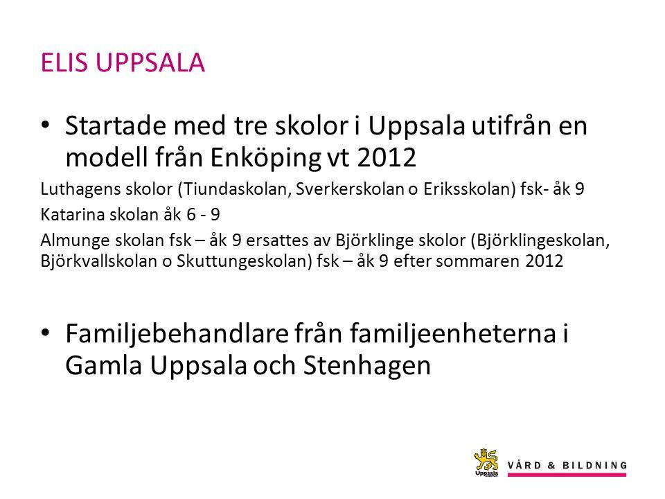 Familjebehandlare från familjeenheterna i Gamla Uppsala och Stenhagen
