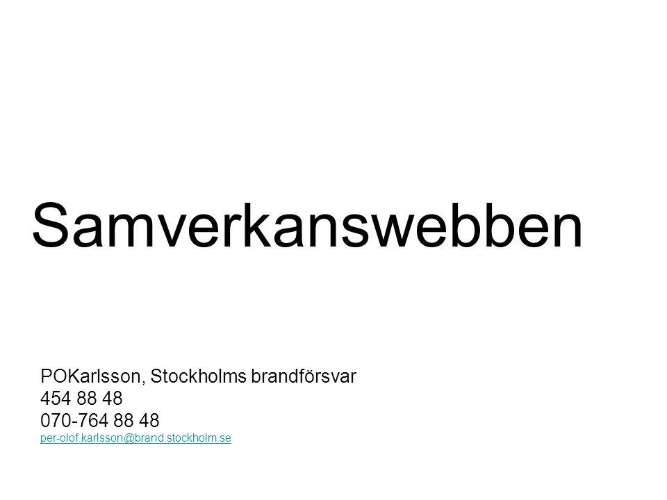 Samverkanswebben POKarlsson, Stockholms brandförsvar 454 88 48