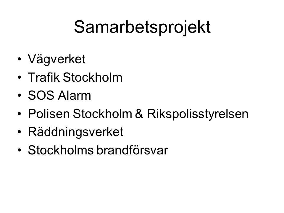 Samarbetsprojekt Vägverket Trafik Stockholm SOS Alarm
