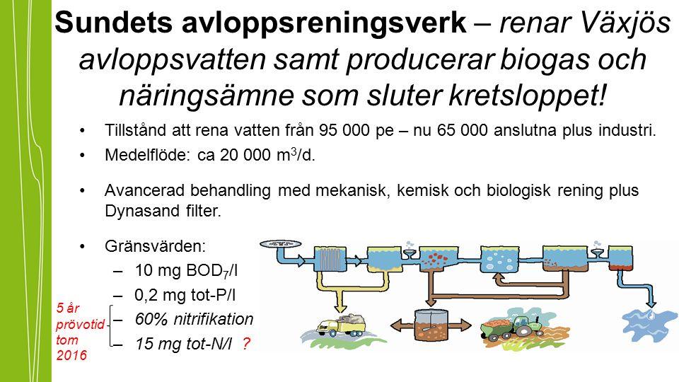 Sundets avloppsreningsverk – renar Växjös avloppsvatten samt producerar biogas och näringsämne som sluter kretsloppet!