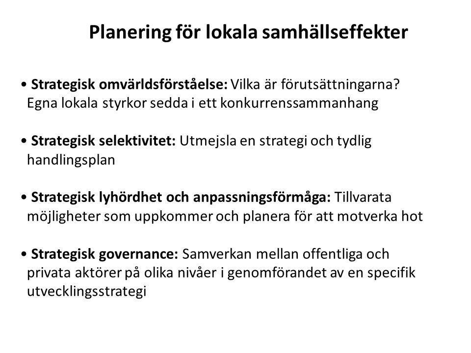Planering för lokala samhällseffekter