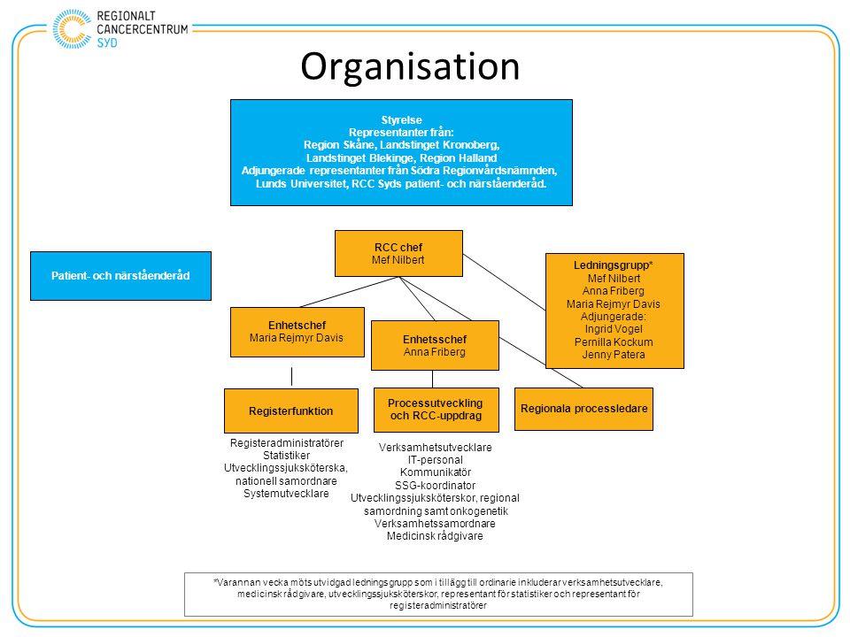 Organisation Styrelse Representanter från: