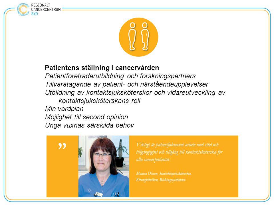 Patientens ställning i cancervården
