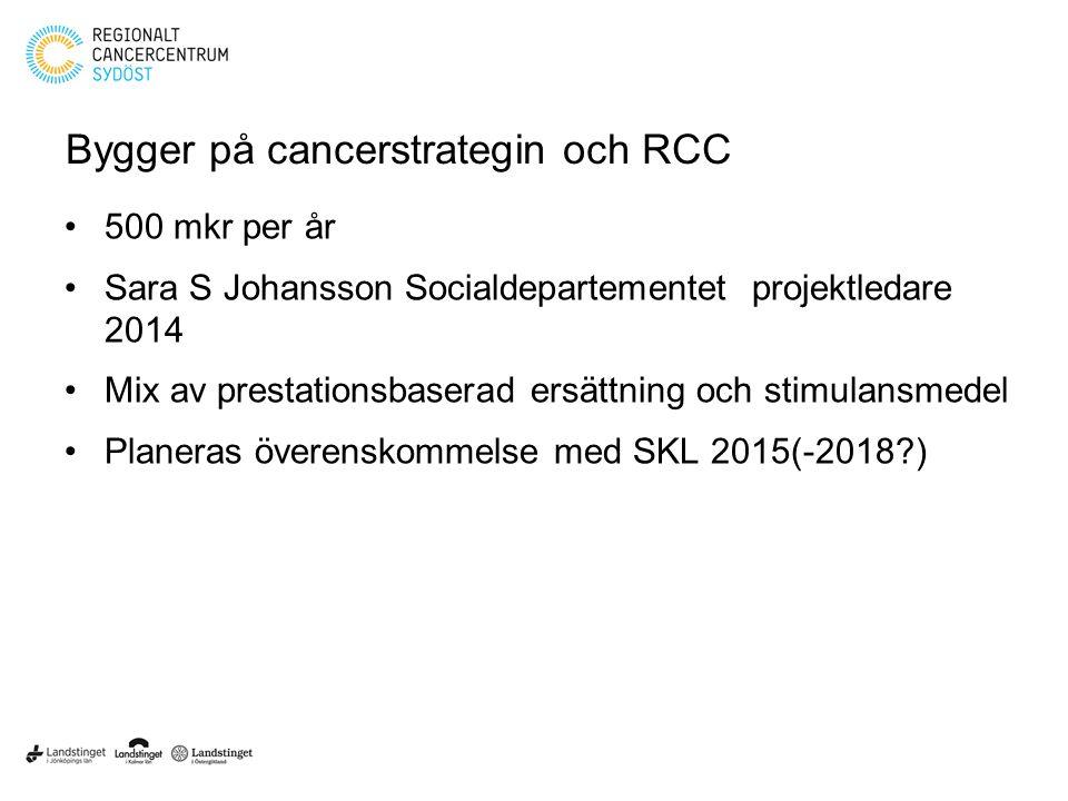 Bygger på cancerstrategin och RCC