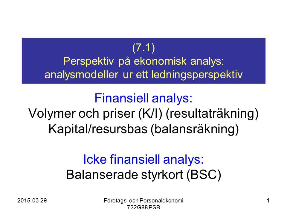 Volymer och priser (K/I) (resultaträkning)