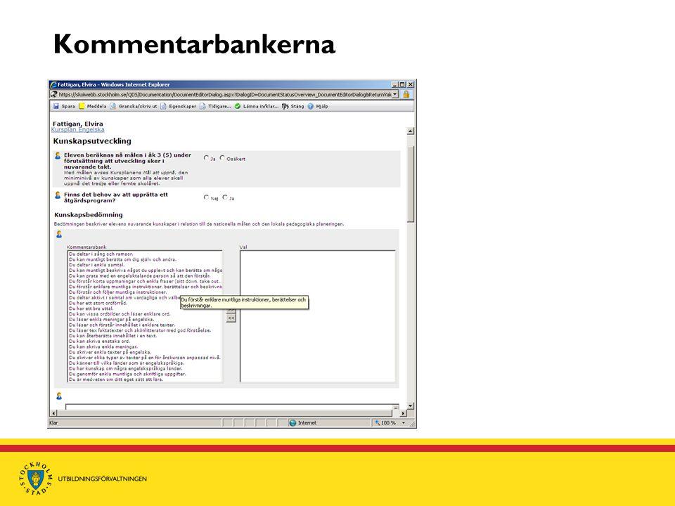 Kommentarbankerna