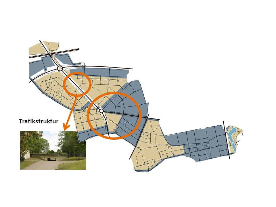 Trafikstruktur Rondellen i sig är problematiskt, där markeras övergången mellan inner- och ytterstad som det ser ut idag.