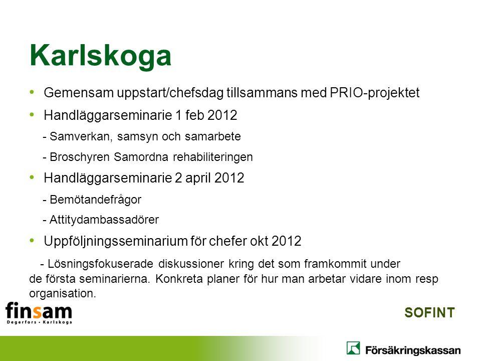 Karlskoga Gemensam uppstart/chefsdag tillsammans med PRIO-projektet