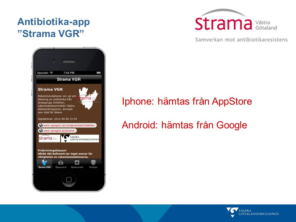 Antibiotika-app Strama VGR