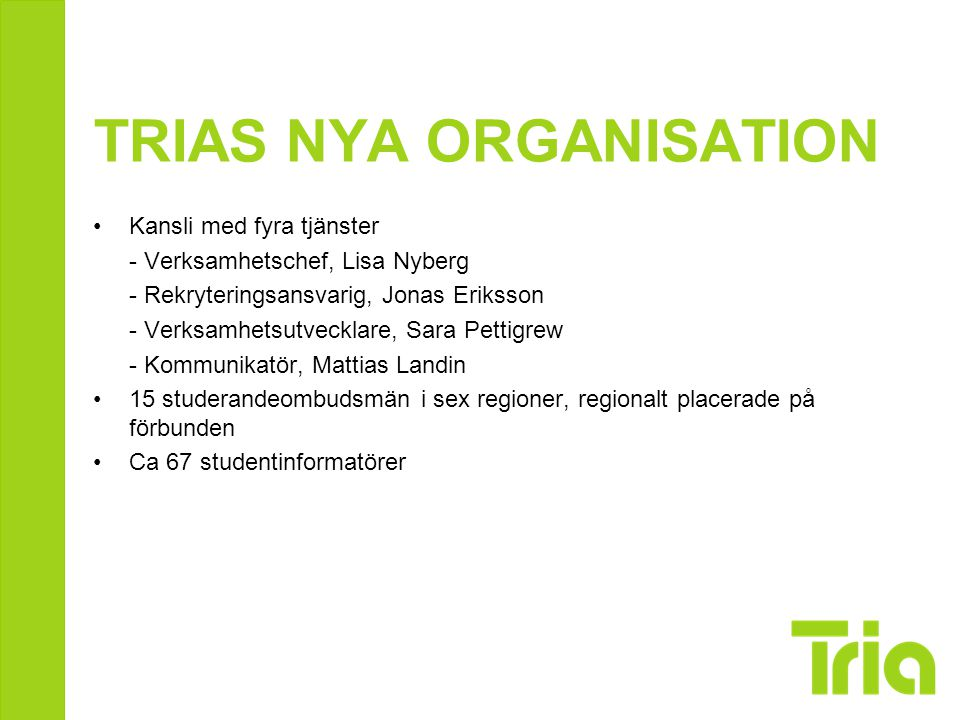 TRIAS NYA ORGANISATION