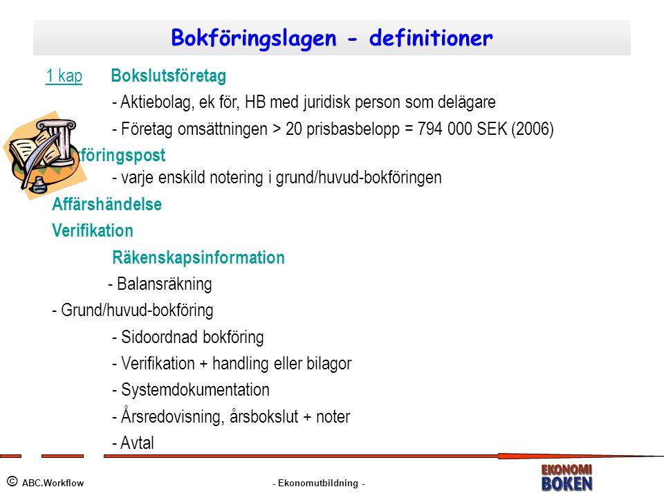 Bokföringslagen - definitioner