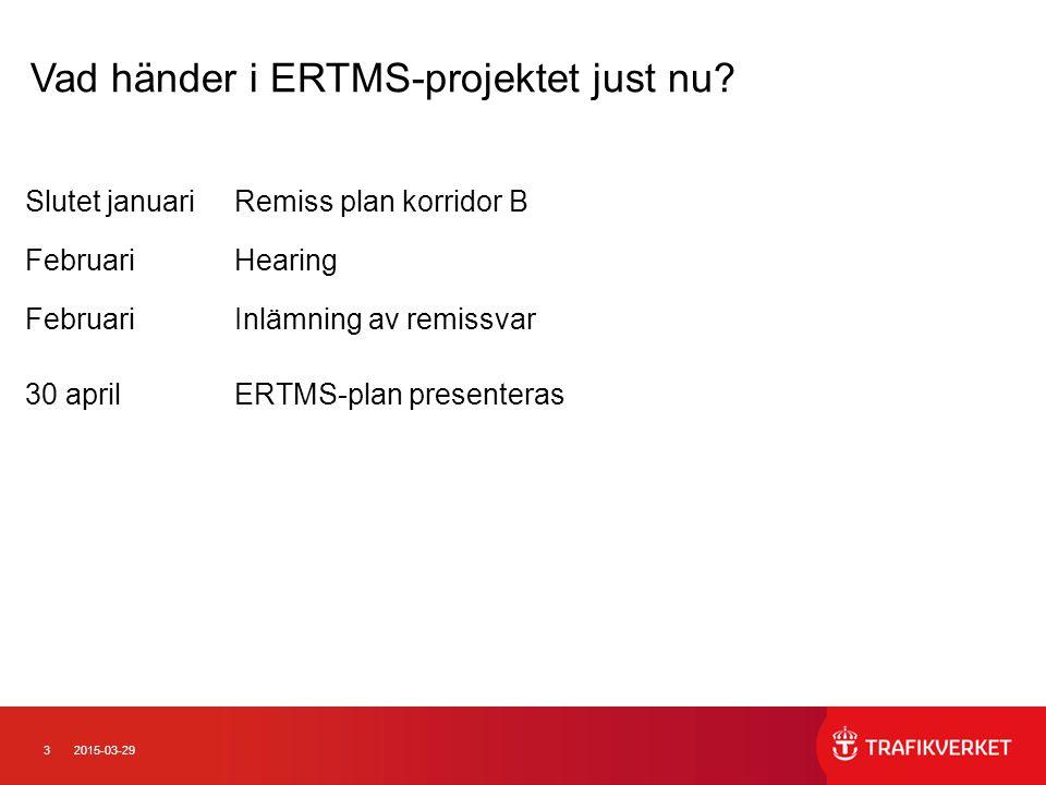 Vad händer i ERTMS-projektet just nu