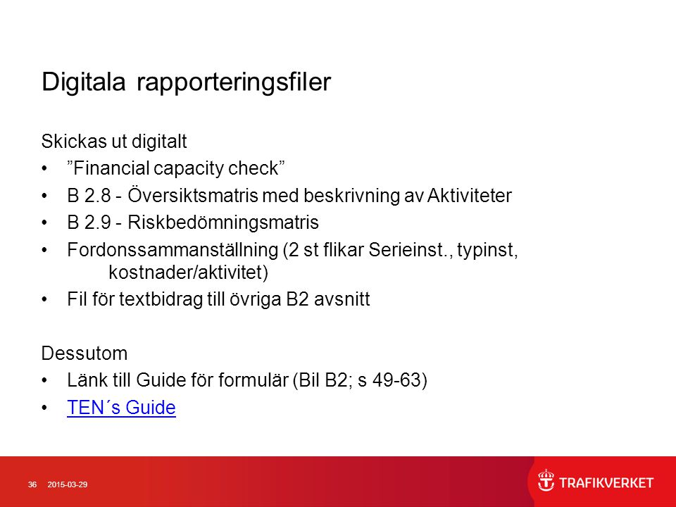 Digitala rapporteringsfiler