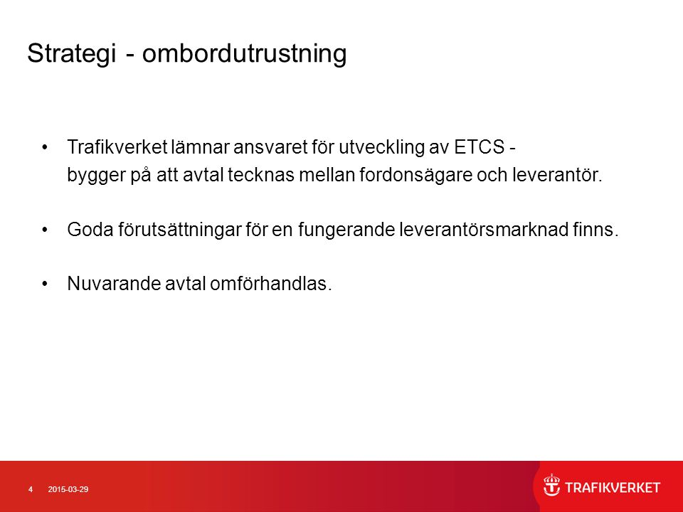 Strategi - ombordutrustning